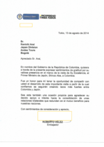 Carta_embajada_colombia_japon_20142